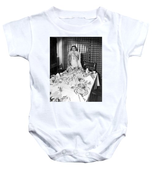 Dinner Party Table Setting Baby Onesie