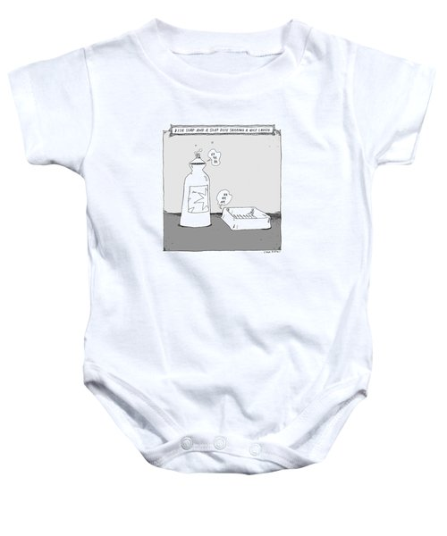 Dish Soap And A Soap Dish Sharing A Nice Laugh -- Baby Onesie