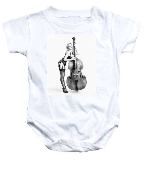 Doghouse With Mosh - String Bass Baby   Baby Onesie