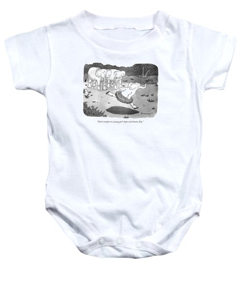 Don't Trample On A Young Girl's Hopes And Dreams Baby Onesie