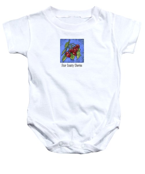 Door County Cherries Baby Onesie