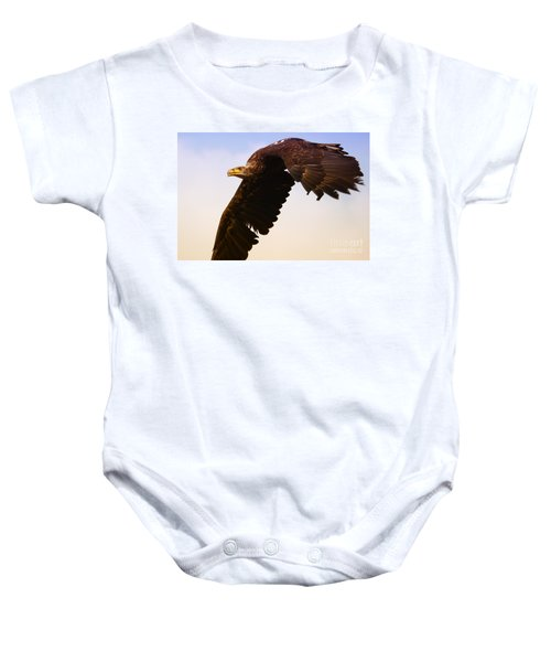 Eagle In Flight Baby Onesie