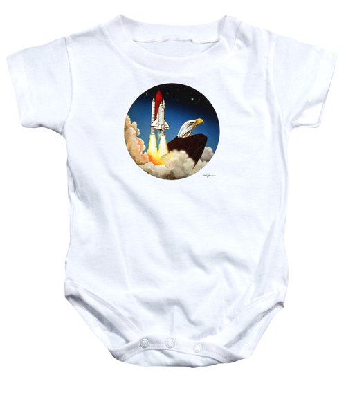 Da165 Eagle's Flight By Daniel Adams Baby Onesie
