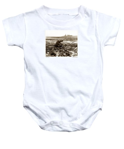 Ed Ricketts At Point Wilson Lighthouse In Port Townsend Wa July 1930 Baby Onesie