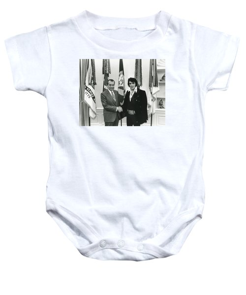 Elvis And Nixon Baby Onesie