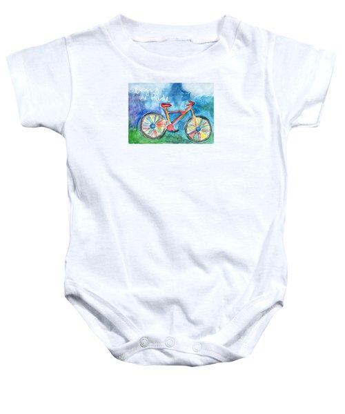 Enjoy The Ride- Colorful Bike Painting Baby Onesie
