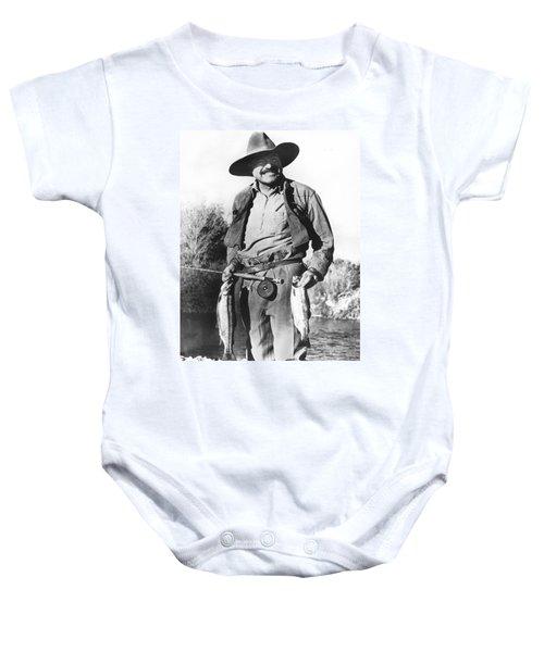 Ernest Hemingway Fishing Baby Onesie