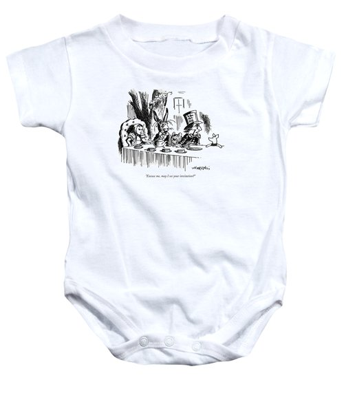Excuse Me, May I See Your Invitation? Baby Onesie