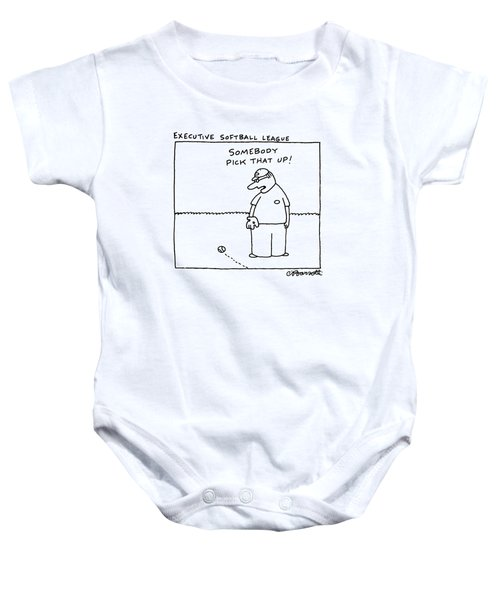 Executive Softball League Baby Onesie by Charles Barsotti