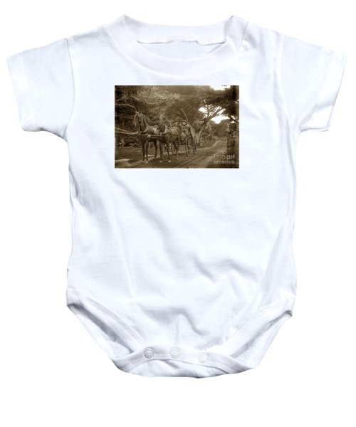 Family Out Carriage Ride On The 17 Mile Drive In Pebble Beach Circa 1895 Baby Onesie