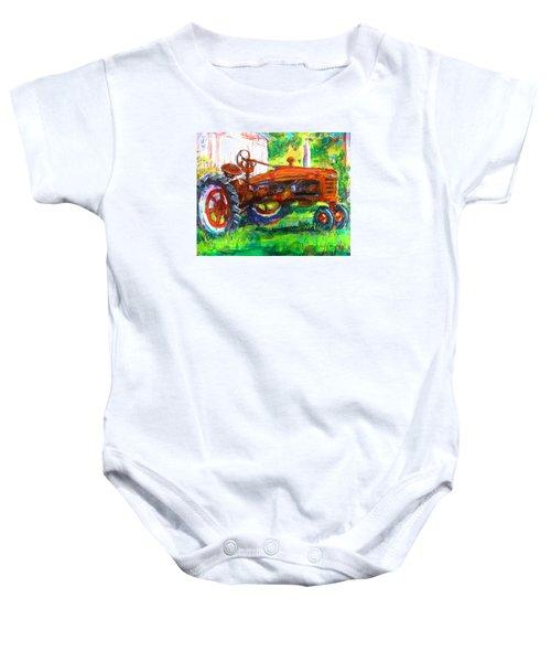 Farmall Tractor Baby Onesie