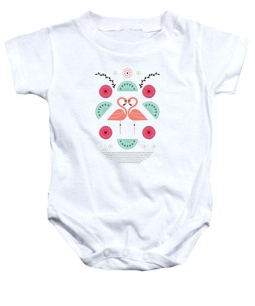 Flamingo Flutter Baby Onesie by Susan Claire
