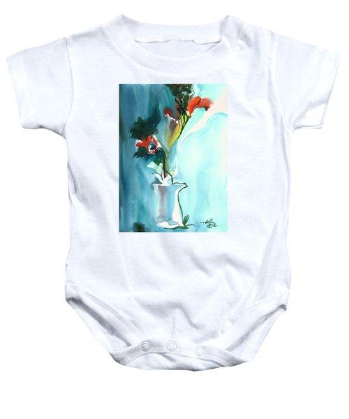 Flowers In Vase Baby Onesie