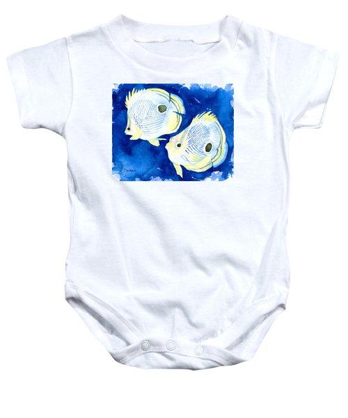 Foureye Butterflyfish Baby Onesie