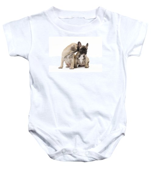 French Bulldog Puppies Baby Onesie