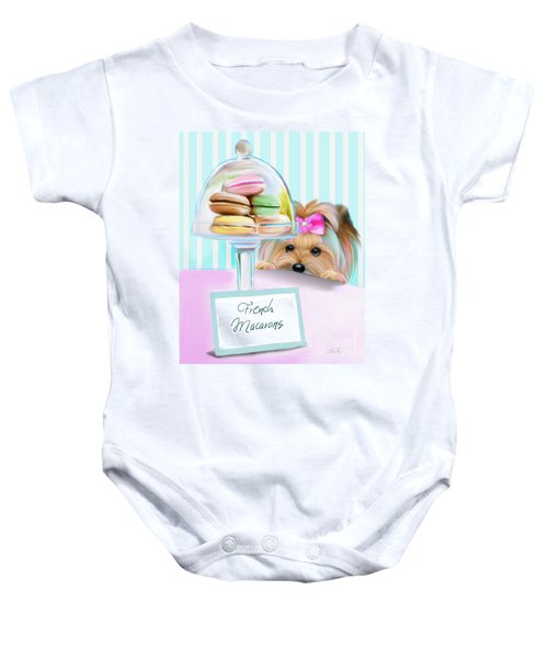French Macarons Baby Onesie