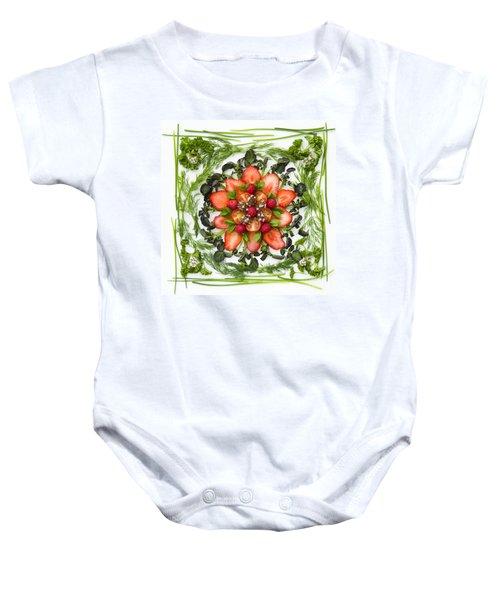 Fresh Fruit Salad Baby Onesie by Anne Gilbert