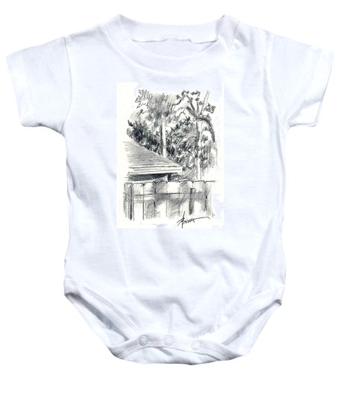 From The Breakfast Room Window Baby Onesie