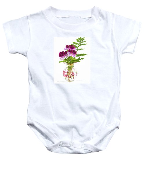 Geranium 'witchwood' Baby Onesie