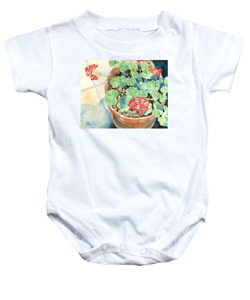Geraniums Baby Onesie