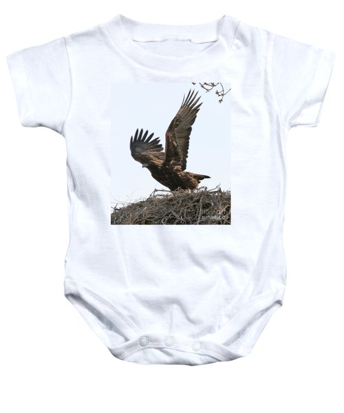Golden Eagle Takes Off Baby Onesie