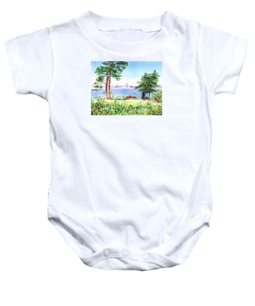 Golden Gate Bridge View From Lincoln Park San Francisco Baby Onesie