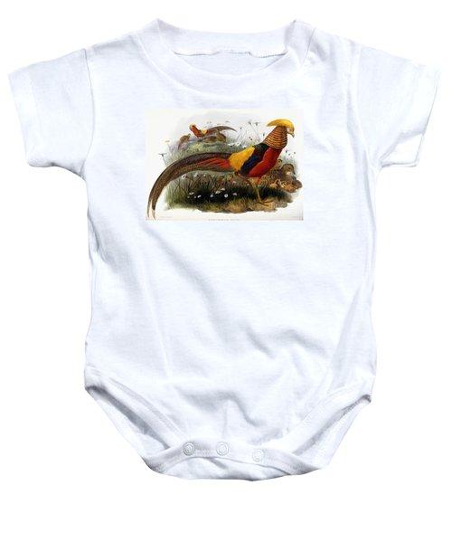 Golden Pheasants Baby Onesie