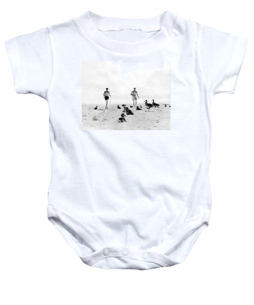 Golf With Gooney Birds Baby Onesie by Underwood Archives