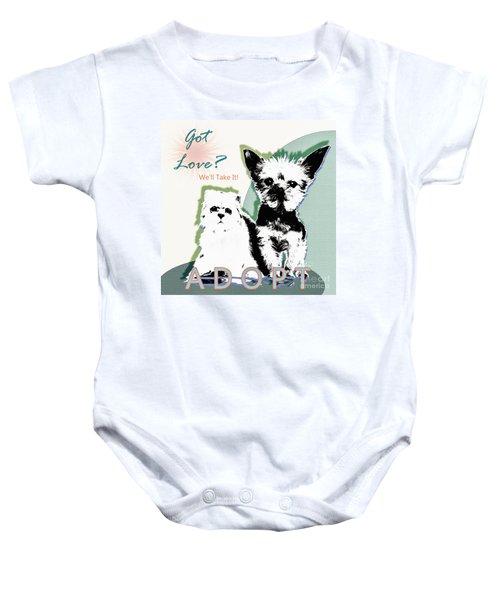 Got Love Adopt A Pet Poster Art Baby Onesie