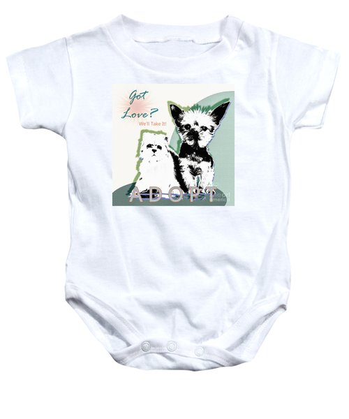 Got Love Adopt A Pet Poster Art Baby Onesie