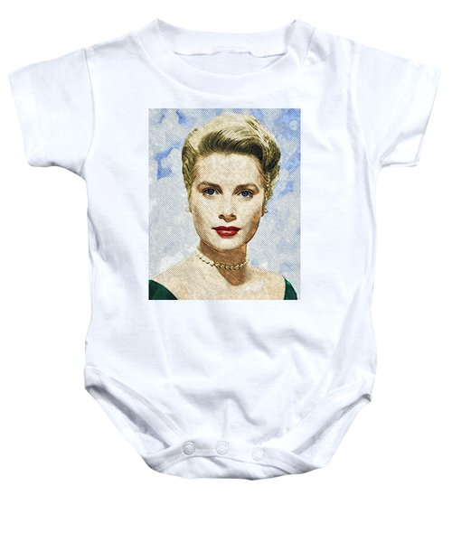 Grace Kelly Baby Onesie by Taylan Apukovska