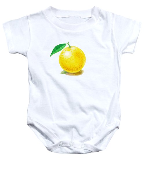 Baby Onesie featuring the painting Grapefruit by Irina Sztukowski