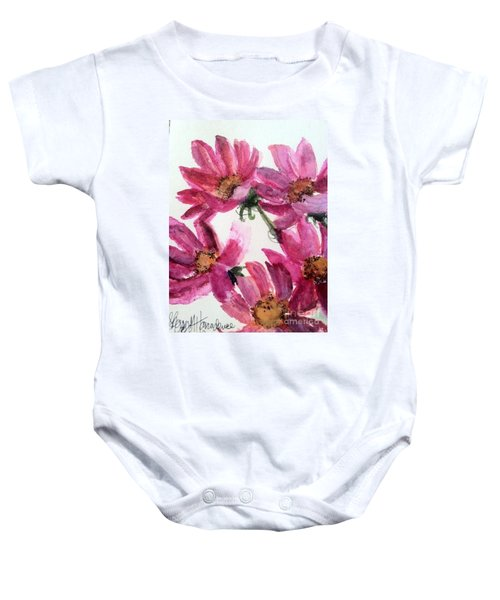 Gull Lake's Flowers Baby Onesie