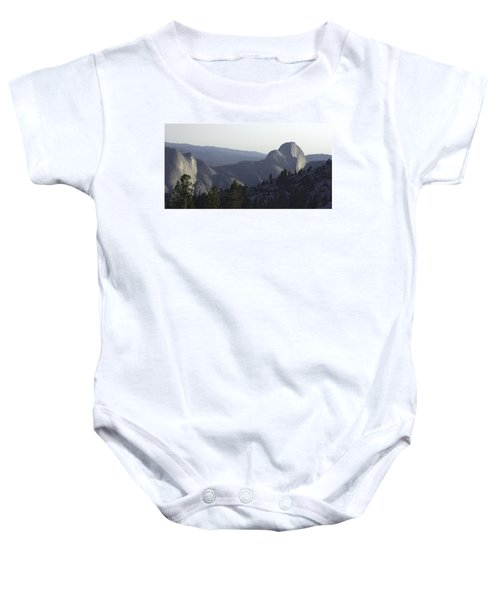 Half Dome From Olmsted Pt Baby Onesie