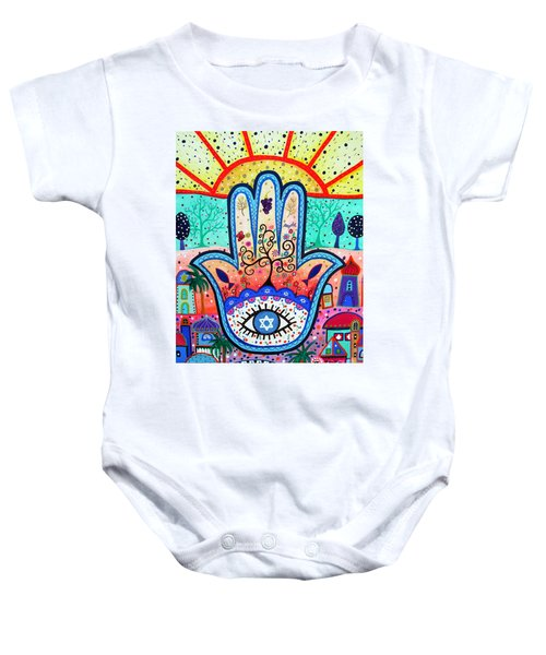 Hamesh Evil Eye Baby Onesie