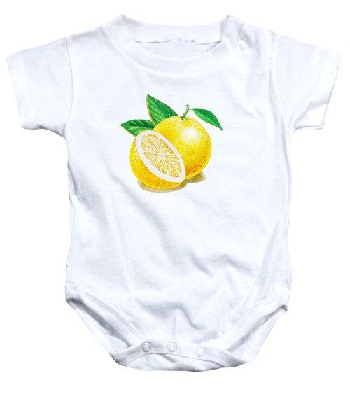 Happy Grapefruit- Irina Sztukowski Baby Onesie