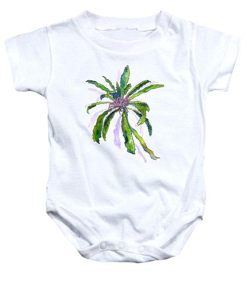 Hawaiian Haha Plant Cyanea Stictophylla Baby Onesie