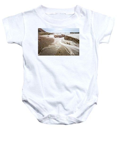 Hazard Reef Flow - The Jagged Rocks Montana De Oro State Park Baby Onesie
