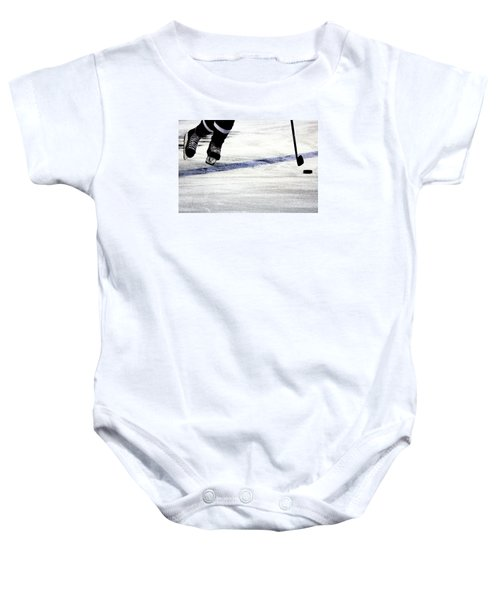 He Skates Baby Onesie