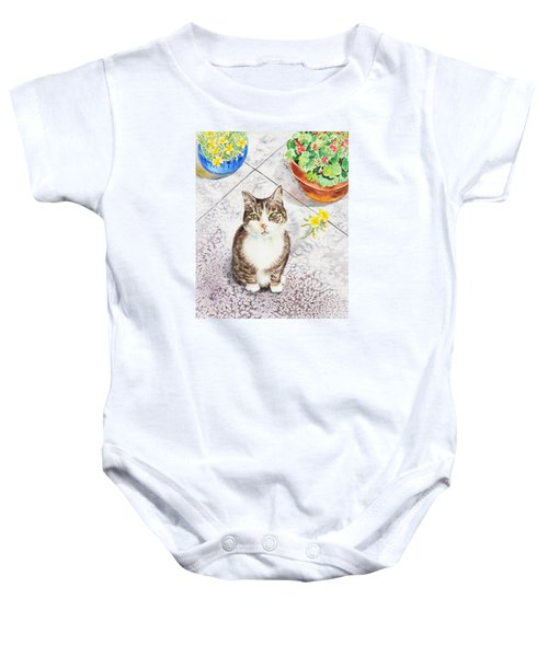 Here Kitty Kitty Kitty Baby Onesie