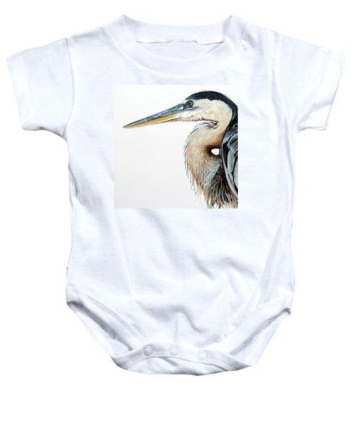 Heron Study Square Format Baby Onesie