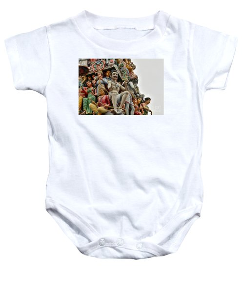 Hindu Gods And Goddesses At Temple Baby Onesie
