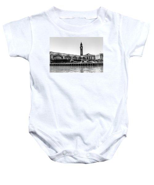 Hoboken Terminal Tower Baby Onesie