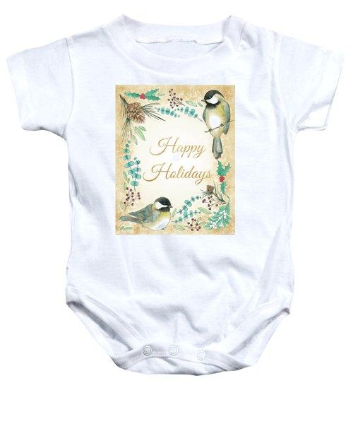 Holiday Wishes II Baby Onesie by Elyse Deneige