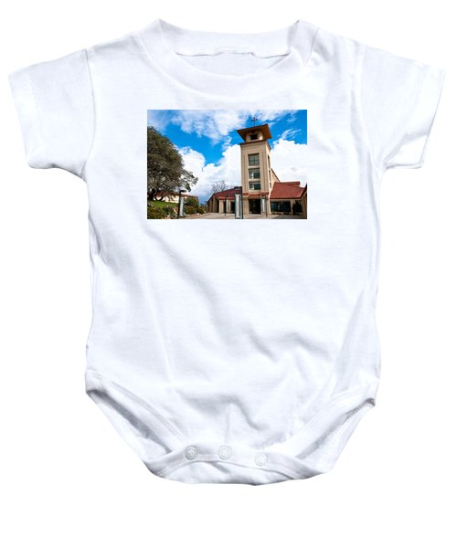 Baby Onesie featuring the photograph Holy Trinity Church by Shane Kelly