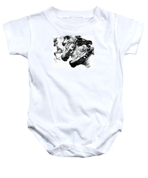 Horse Ink Drawing  Baby Onesie