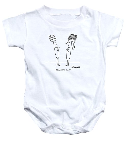 I Love It. Who Did It? Baby Onesie