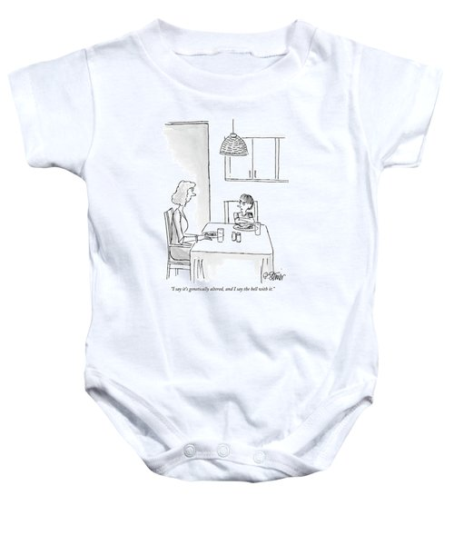 I Say It's Genetically Altered Baby Onesie by Peter Steiner