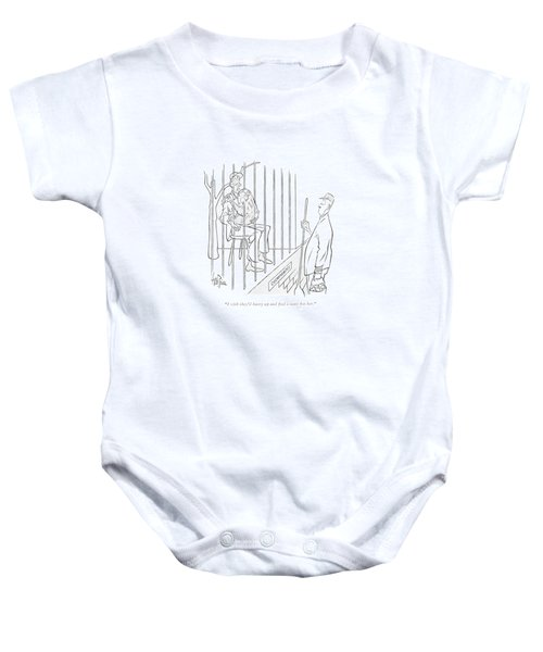 I Wish They'd Hurry Up And ?nd A Mate For Her Baby Onesie by George Price