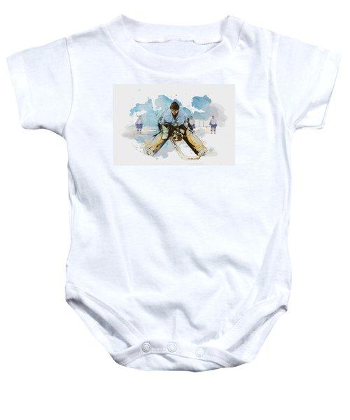 Ice Hockey Baby Onesie